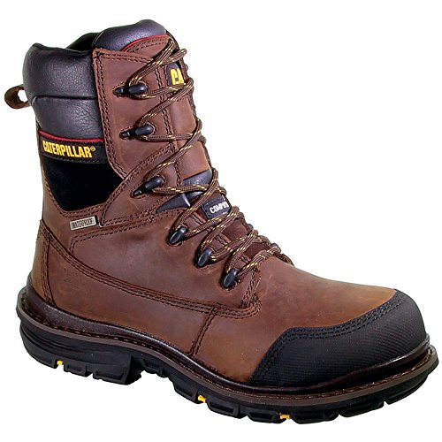 Caterpillar Mens Doffer Safety Work Boots Brown brown