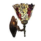 Gweat 8 Zoll Retro Trauben Perlen Wandleuchte Wohnzimmer Sofa Couchtisch Luxus Studie Schlafzimmer Warme Nachttischlampe