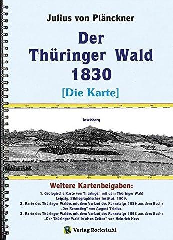 Der Thüringer Wald 1830 [Die KARTE]: Ansicht der Nordseite des nordwestlichen Theils desselben. Aufgenommen im Gasthof zum Thüringer-Haus, an der ... nach Eisenach, eine Stunde von Gotha entfernt