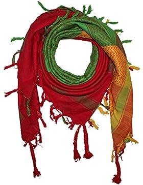 Superfreak® Pañuelo pali multicolor°chal PLO°100x100 cm°Pañuelo palestino Arafat°100% algodón – Amarillo-rojo-verde