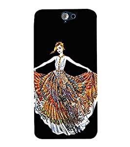 Girl with Colourful Dress 3D Hard Polycarbonate Designer Back Case Cover for HTC One A9