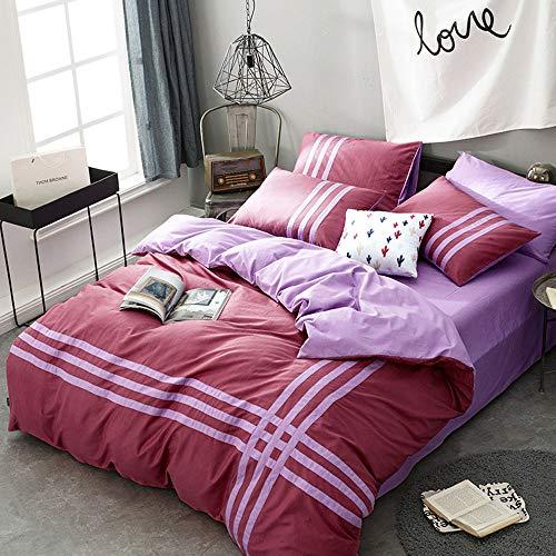 Heimtextilien bettwäsche, Baumwolle heimtextilien 4 sätze von Baumwolle doppel Bett Einzel/Quilt / Kissenbezug (160 * 210 * 200 * 230 220 * 240 cm) (Doppel-bett-satz)