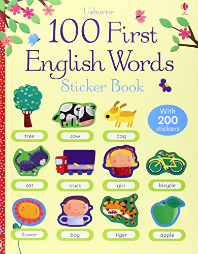 100 First English Words Sticke (100 First Words Sticker Books)