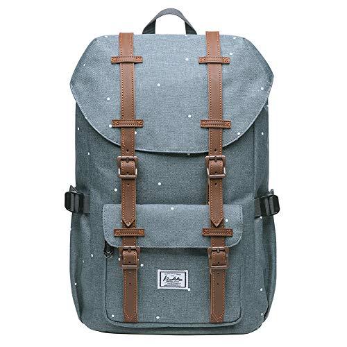 """KAUKKO Rucksack Studenten 15 Zoll Backpack für 13\"""" Notebook Lässiger Daypacks Schüler Bag für Wandern 41cm, 16L, Mini"""