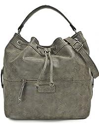 MIYA BLOOM, Damen Handtaschen, Shopper, Schultertaschen, Umhängetaschen, Beuteltasche, Hobo Bucket Bag, 37 x 31 x 17,5 cm (B x H x T)
