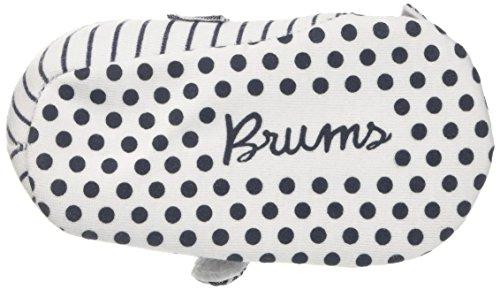 Brums Baby Mädchen 171belp001 Krabbel-& Hausschuhe Multicolore (Bianco/Blu 01)