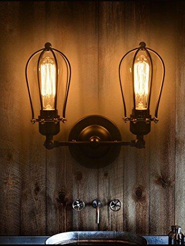 yuewei®bombilla de Edison 2 cabezales de lámpara...