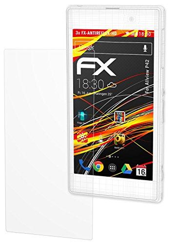 atFolix Schutzfolie kompatibel mit Allview P42 Bildschirmschutzfolie, HD-Entspiegelung FX Folie (3X)