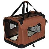 EUGAD Hundebox Hundetransportbox Transportbox Auto Reisebox Katzenbox Autobox Box mit Hundedecke 70x52x52 cm Braun L HT2090br3