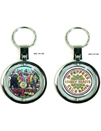 THE BEATLES Official Product Merchandise Collectable Keyring Spinner SGT PEP New