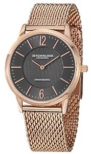 Stührling Original 122.33112 - Reloj de cuarzo para hombre, con correa de acero inoxidable, color plateado