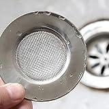 Hosaire Coladores de desagüe acero inoxidable fregadero de cocina Colador de drenaje protectores ideal para cocina y baño fregaderos