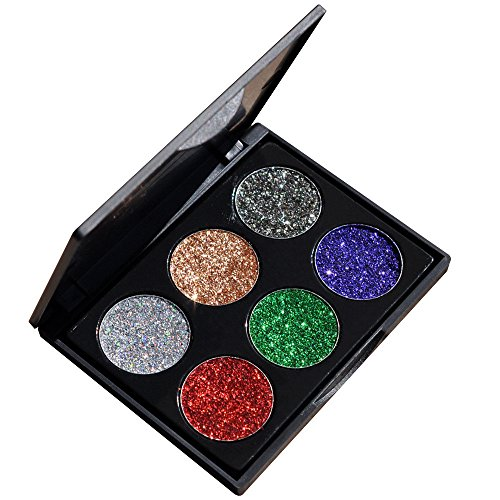 Vovotrade Fashion Women professional Shimmer Glitter Eye Shadow Powder Palette Ladies Matte Eyeshadow Cosmetic Makeup (B, Multicolore)