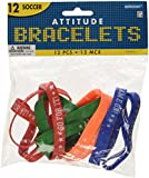 Soccer Attitude Bracelets / Wristbands (12ct)