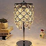 KYBYMX Nordic Schreibtischlampe Schlafzimmer Kristall Lampe Weiß Lampenschirm Wohnzimmer Dekoration Lampe Innentischlampe