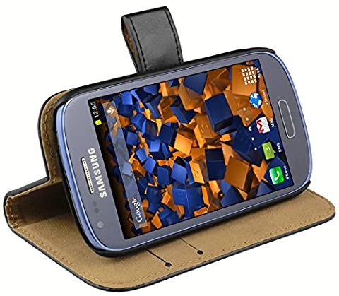 mumbi Ledertasche im Bookstyle für Samsung Galaxy S3 mini Tasche