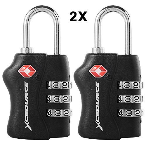 XCSOURCE 2 pcs TSA Security 3 Digit Combination