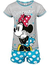 Disney Minnie Mouse Eeyore Little Mermaid Official Gift Ladies Short Pyjamas
