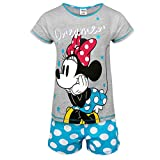 Disney - Pijama corto para mujer - Producto oficial - Minnie Mouse / Ígor / La sirenita - Azul - 20-22