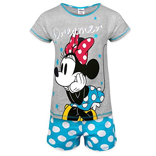 - 51USeURJM1L - Disney Minnie Mouse Eeyore Little Mermaid Official Gift Ladies Short Pyjamas