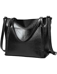 PB-SOAR Damen Elegant Schultertasche Shopper Tote Umhängetasche Ledertasche Handtasche Henkeltasche 28x27x14cm