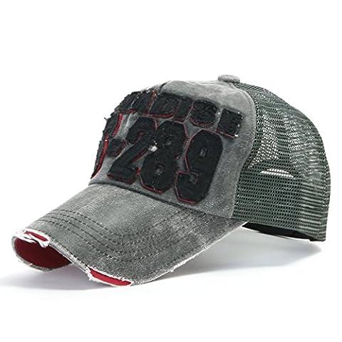 ililily Distressed Vintage Mesh Baseball Cap Snapback Trucker Hut (ballcap-440-5)