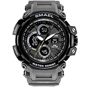 Anyeda Herren Uhren Fitness Smartwatch Outdoor Sport mit Schrittzähler Wasserdichte Multifunktion Sportuhren Jungs Mädchen Uhren Blau