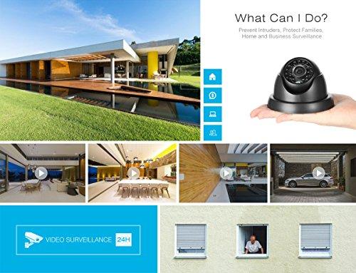 1280720P-HD-SANNCE-Kit-de-4-Cmaras-de-Vigilancia-Seguridad-Onvif-H264-CCTV-DVR-P2P-4CH-AHD-720P-y-4-Cmaras-720P-1MP-IP66-Impermeable-IR-Cut-Visin-Nocturna-Hasta-20M-Exterior-y-Interior-HDMI-24-LEDs-Se