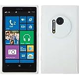 PhoneNatic Case für Nokia Lumia 1020 Hülle Silikon weiß S-Style Cover Lumia 1020 Tasche + 2 Schutzfolien