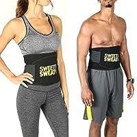 R. K. Hot Shapers Sweat Waist Trimmer Fat Burner Belly Tummy Yoga Wrap Black Exercise Body Slimming Belt