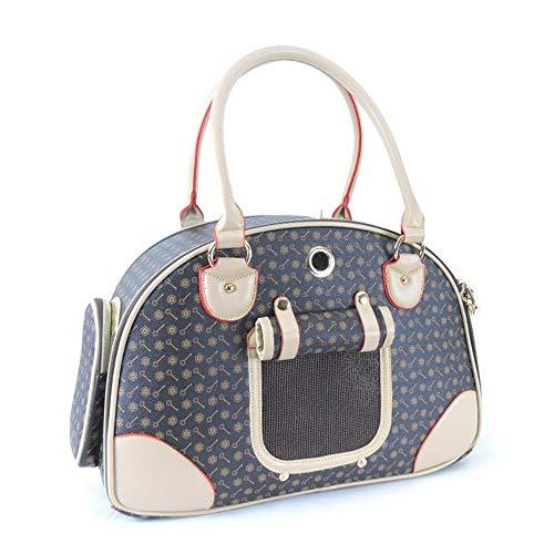 Sunqqa pet zaino fuori borsa da viaggio portatile pu valigia-2 misure (color : brown, size : l)