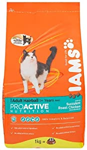 Iams Hairball Chicken Dry Cat Food 1 Kg Pack Of 4 by Procter & Gamble