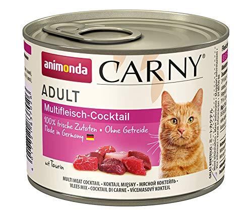 animonda Carny Carny Adult Katzenfutter, Nassfutter für ausgewachsene Katzen, Multifleischcocktail, 6 x 200 g