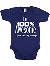 IiE, I'm 100% Awesome, just like my Aunty, Baby Girl Bodysuit