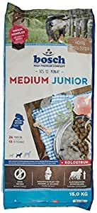 bosch hundefutter medium junior 1er pack 1 x 15 kg haustier. Black Bedroom Furniture Sets. Home Design Ideas