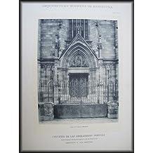 Lámina - Plate : Arquitectura Moderna de Barcelona - Convento de las Adoratrices en Calle Consejo de Ciento esquina a la de Casanovas