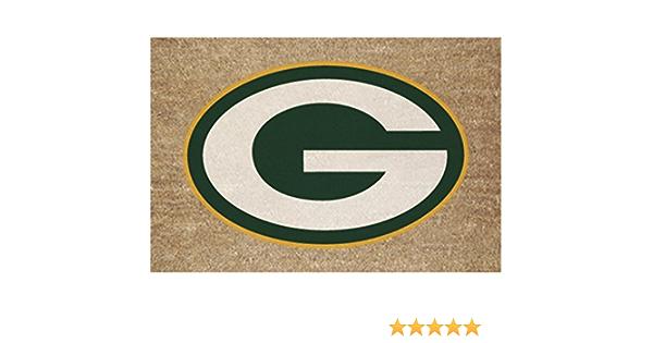 Green Bay Packers Colored Logo Door Mat