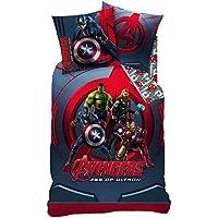Familando Juego de ropa de cama reversible Marvel Avengers Age Of Ultron, 135x 200cm + 80x 80cm, linón