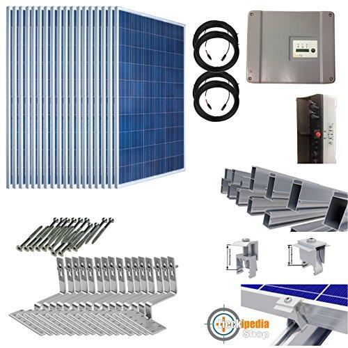 4,5KW/4500 Watt Photovoltaik-Solaranlage mit Wechselrichter für Pfannendachmontage