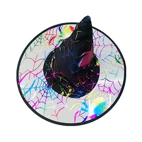 Zottom Der Hexenhut der Erwachsenen Frauen Mens für Halloween-Kostüm-Zusatz-Flaum-Feste Kappe (E Schüssel Ein Kostüm)