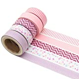 K-LIMIT 5er Set Washi Tape Dekoband Masking Tape Klebeband Scrapbooking 6223