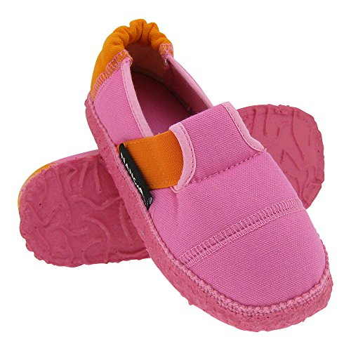 GALLUX - Kinderschuhe Hausschuhe bunte Kinder Slipper Rosa/Orange