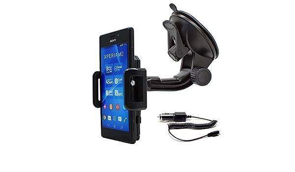d2305 d2306 Mobilefox /® 360/° support de voiture avec chargeur allume cigare pour t/él/éphone portable sony xperia m2