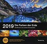 Tischkalender Die Farben der Erde 2019: 365-Tage Spiralaufsteller in Geschenkbox