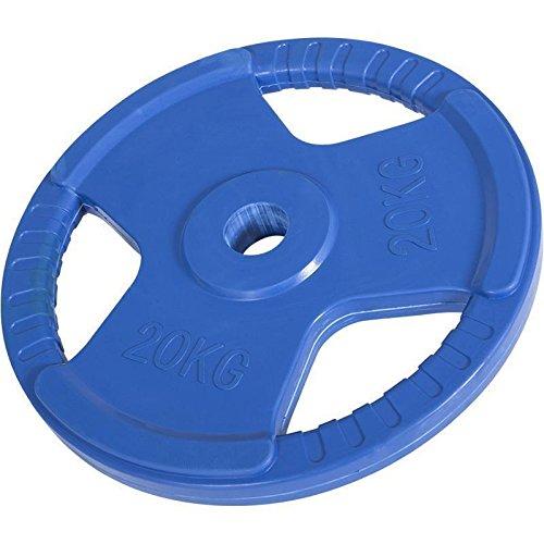 Hantelscheiben Gripper Gummi mit Eingriff 1,25kg-25kg, 50/51mm (20KG Blau)