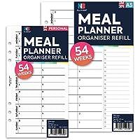 NBplanner® Planificador de comida organizador de recambio Planificador Insertar Filofax Compatible Color Inglés A5