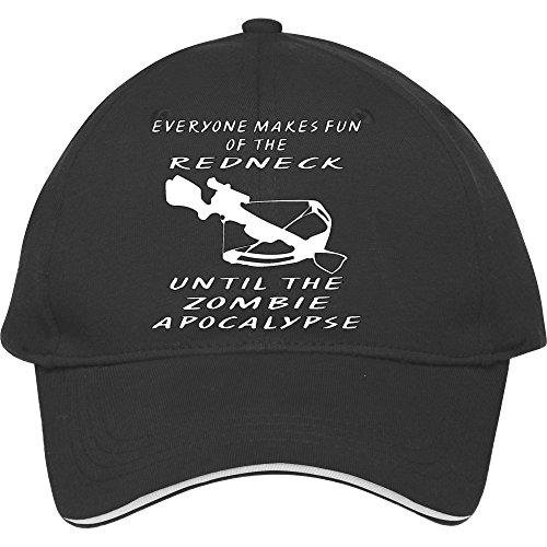 Jeder Macht Spaß der Redneck, bis die Zombie Baseball Snapback Cap. Baumwolle in Frauen-donfar Hüte verstellbar Hat, damen unisex Herren, schwarz - Cadet Hut