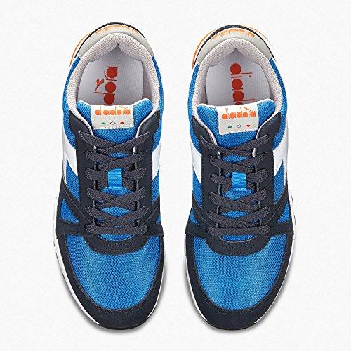 Diadora Run 90, Baskets Basses Bleues Unisexe-bleu Marine