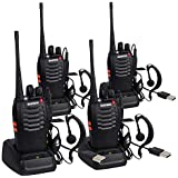 CDC DIGI BF-888S Long Range Walkie Talkies 5W 16CH Portable Handheld 2-way Radio with USB Rechargeable Li-ion Battery and LED Light Voice Prompt