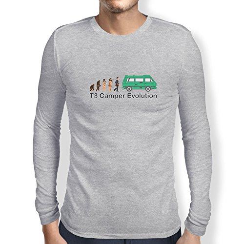TEXLAB - T3 Camper Evolution Color Edition - Herren Langarm T-Shirt Grau Meliert